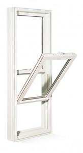 Exemple de fenêtres en guillotine en PVC