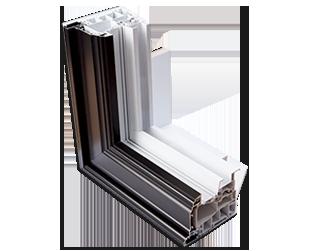Détail de la fabrication multichambre fenêtre à guillotine hybride