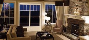 Exemple de portes patio en PVC dans un salon